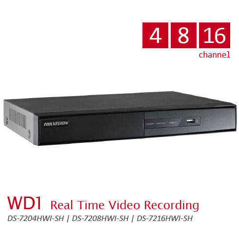 WD1 Real Time Video Recording DS-7200HWI-SH-Series