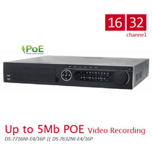 Up to 5MB POE Video Recording DS-7700NI-E4/16P series